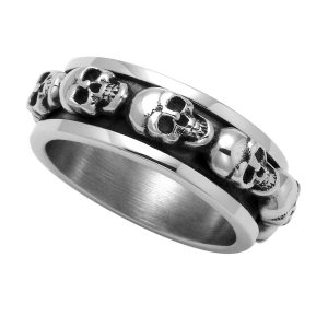 China 2018 Spring Cheap Sterling Silver Skulls Spinner Ring 92087 on sale