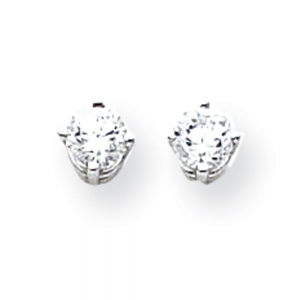 China Popular k White Gold Post Earrings mm Cubic Zirconia Earrings 48322- on sale