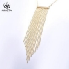 China Gold plated Tassels necklace designs, fashion jewelry necklace for sale