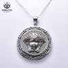 China New Arrival hip hop silver pendant, medusa necklace for sale