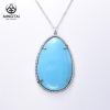 China Elegant 925 silver turquoise pendant necklace for sale