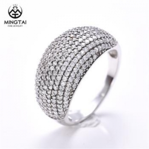 China 925 silver unique cheap diamond wedding rings, unique rings with cubic zirconia on sale