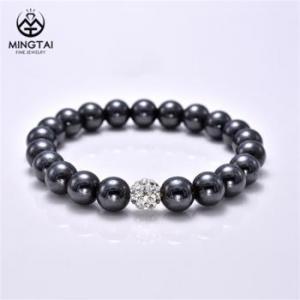 China Custom black bracelets, Magnetic beaded bracelets for women on sale