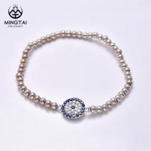China Devil eye 925 Sterling silver Magnetic bead luxury bracelet, indian or italian bracelet on sale