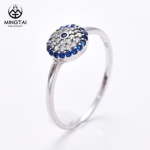 China 925 sterling silver rings for women, pave setting cubic zirconia ring on sale