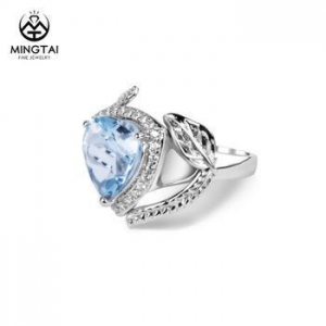 China Fashion 925 sterling silver gemstone rings on sale