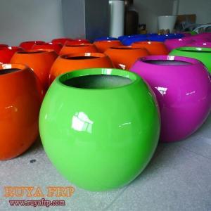 China RY-P040Fiberglass Plant Pot on sale