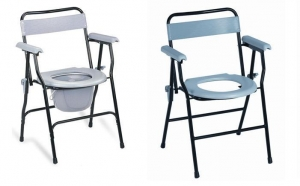 China Steel Folding Commode chair on sale