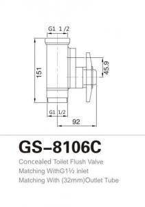 China Concealed Toilet Flush Valve on sale