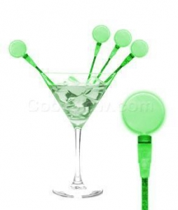 China LED Circle Cocktail Stirrers - Green on sale