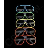 China EL Aviator Glasses Black Frame - Assorted on sale