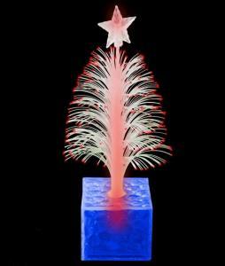 China LED 6.5 Inch Christmas Tree Centerpiece - Blue on sale