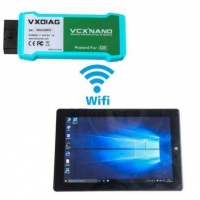 VXDIAG VCX NANO SDD for LandRover Jaguar WIFI with Chuwi Hi10 Tablet