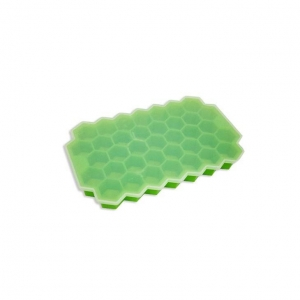 China 37 Slots Honeycomb Shaped Silicone Ice Mold Tray Ice Cube Box on sale