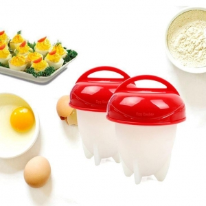 China Non-stick Silicone Egg Boil Egg Cooker Cups Set on sale