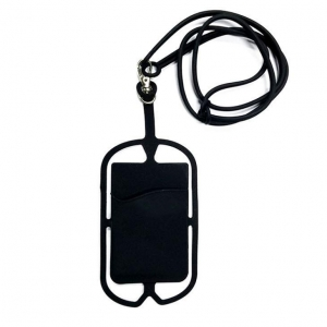China Silicone Hang Rope Cell Phone Card Holder on sale