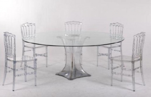 China plastic chairs and tables clear resin chair on sale