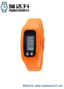 China Cheap Pedometer Watch Step Counter Wristband with Silicone Rubber Strap on sale