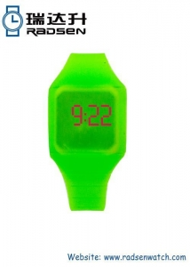 China Silicone LED Kids Watches Red Touch Digital Children Watch with Assorted Color on sale