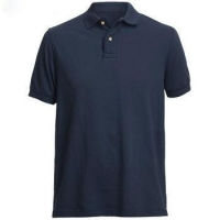 China high quality new design promotion custom work personality navy blue polo collar t shirt on sale