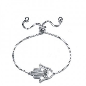 China FINEFEY Sterling Silver Hollow Palm Charm Bracelet for Women Girl on sale