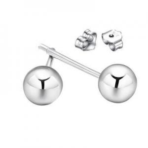 China FINEFEY Sterling Silver Bead Ball Earrings Stud For Women 8mm 1.2g on sale