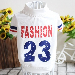 China New Arrival Number 23 Fashion Puppy Clothes Dog Shirts Wholesale on sale
