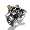 China Clearance Men's Gothic Pirate Skull 316L Stainless Steel Rock Punk Princess Ring for sale