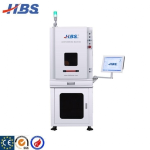 China 50W Fiber Laser Enclosed Marking Machine For Deep Engraving on sale