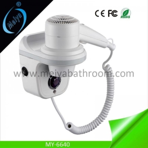 China wall mounted hair dryer with LED light on sale