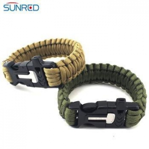 China Flint fire starter with striker paracord survival bracelet30 Piece/Pieces Flint fire on sale