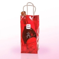 China Customized PVC cooler wine Bag Plasitc bottle carrier bag on sale