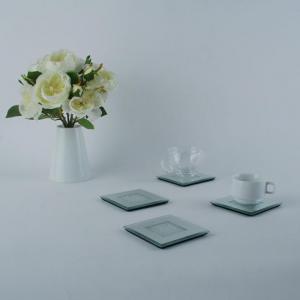 China Glass Coaster For Coffee Set &Tea Set on sale