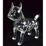 Dog Pet Shape Glass Bottle Handiwork
