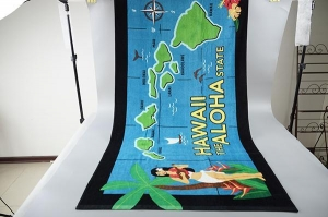 China China manufacturer custom new design dyed printing 100 cotton beach towel on sale
