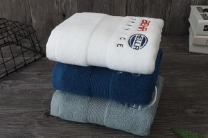 China Multi-color gym towel set,dobby towel with embroidery logo on sale