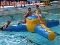 China Aqua Runs Tri Star Water Obstacles Inflatable Water Games on sale