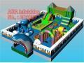 China Blue Shark Inflatable Playground on sale