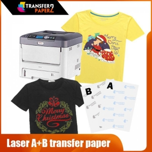 China A+B Self-weeding laser t-shirt transfer paper for white toner printer on sale