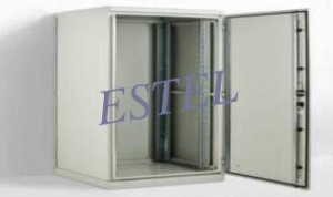 China Steel 12U Pole Mount Outdoor Telecom Enclosure Polyester Powder Coated on sale