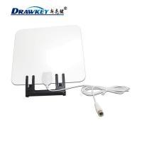 China Hot selling Flat HD Digital Indoor Amplified TV Antenna  50 Miles Range TV ISDB on sale