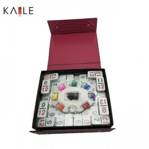 China toy series Double 15 domino set with PVC box on sale