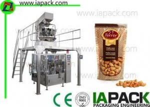 China Cashew Kernels Packing Machine With 10 Head Weigher 50G-500G Doypack Packing Machine bag on sale