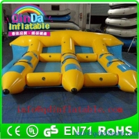 China QinDa Inflatable banana boat fly fish flying fish ride Surfing fish on sale
