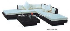 China Rattan wickergarden furniture patio outdoor backyard sectional sofa Hotel L shape sofa -9020 on sale