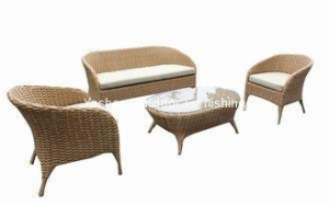 China Outdoor patio furniture 4 pcs rattan wicker sofa set with loveset single chair --YS5747 on sale