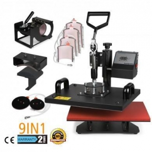 China 9in1 Heat Press Machine Multifunctional T-Shirt Transfer Sublimation for Mug Cup Hat Cap 15X12 on sale