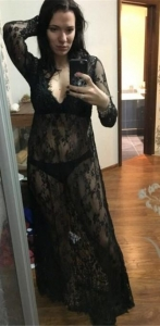 China Black Sexy & Club V-Neck Long Sleeve Long Sleeve A-Line Long Maxi Dresses Item NO: LM271133-6 on sale