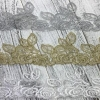 China Golden Knit 9cm Width gold and silver wire bar code veil Polyester Lace z014# for sale