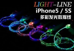 China Product:LED Luminous Flat Micro USB Cable Data Cable USB Charger line on sale